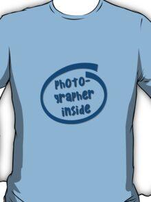 Photographer Inside T-Shirt