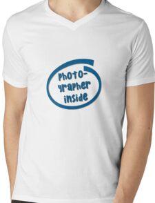 Photographer Inside Mens V-Neck T-Shirt