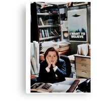 dana scully - x files Canvas Print