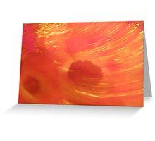 Orange moves Greeting Card