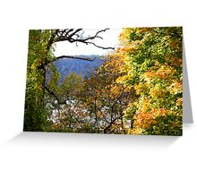 Palisades in Autumn Greeting Card