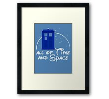 All of time and space #blue Framed Print