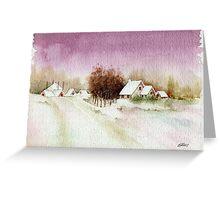 A BEAUTIFUL WINTER - AQUAREL Greeting Card