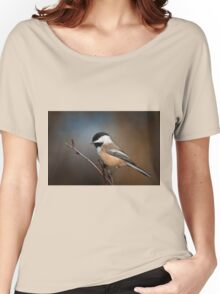 Black Capped Chickadee Women's Relaxed Fit T-Shirt