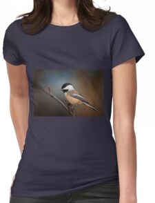 Black Capped Chickadee Womens Fitted T-Shirt