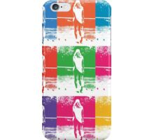 Multi Coloured Tennis Girl iPhone Case/Skin
