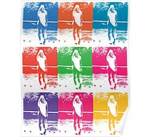 Multi Coloured Tennis Girl Poster