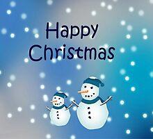 Christmas card-Snowmen by sarnia2