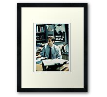 #fox Mulder - XFILES Framed Print