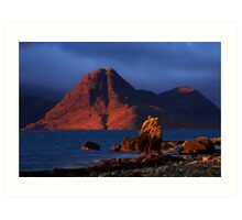 Elgol in November Light, Isle of Skye, Scotland Art Print