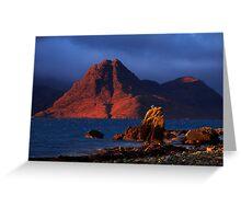 Elgol in November Light, Isle of Skye, Scotland Greeting Card