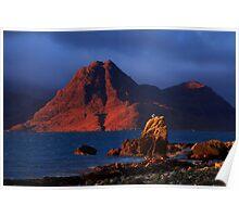 Elgol in November Light, Isle of Skye, Scotland Poster