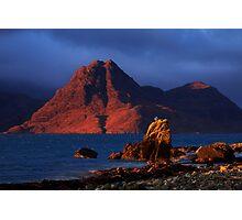 Elgol in November Light, Isle of Skye, Scotland Photographic Print