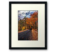 NH Autumn Road 3 Framed Print