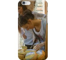 Cheese stall, Radicofani, Tuscany, Italy iPhone Case/Skin