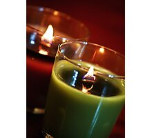 Holiday Candles 2 Photographic Print