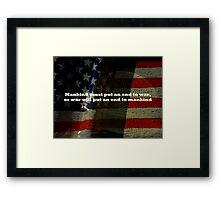 An End To War Framed Print