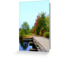 Over the Bridge & Through the  Woods  Greeting Card