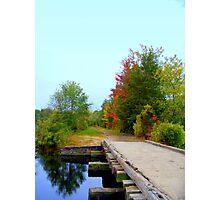 Over the Bridge & Through the  Woods  Photographic Print