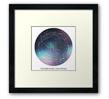 The Northern Lightnings - Constellation Design Framed Print