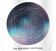 The Northern Lightnings - Constellation Design Poster