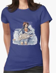 Woman and Dog in Blanket Vintage T-Shirt
