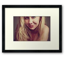 Over Coffee Framed Print