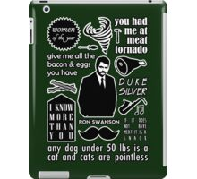 Swanson Quotes iPad Case/Skin