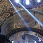 Sun's rays at St. Mark's Basilica, Venice. by Brian220