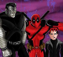 Deadpool, Colossus, And Negasonic Teenage Warhead: One Big Happy Family by Oreomega95