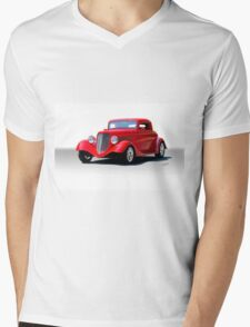 1934 Ford 'Isolated on White' Coupe Mens V-Neck T-Shirt