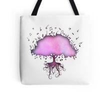 Watercolor Music Tree of Life Tote Bag