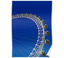 London Eye Blue Sky Poster