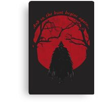 Bloodborne Hunter Canvas Print