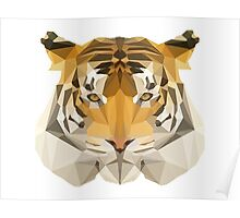 Low poly Tiger Poster