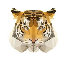 Low poly Tiger Photographic Print