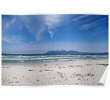 Empty Windswept Beach Poster