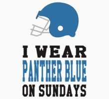 I Wear Panther Blue on Sundays Kids Tee