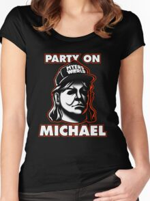 Party on, Michael! Women's Fitted Scoop T-Shirt
