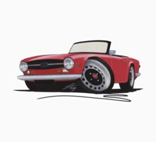 Triumph TR6 Red by Richard Yeomans