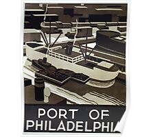 WPA United States Government Work Project Administration Poster 0390 Port of Philladelphia Poster