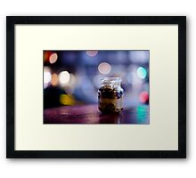 glass jar@night Framed Print