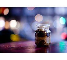 glass jar@night Photographic Print