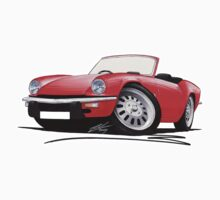 Triumph Spitfire Mk4 Red Kids Clothes