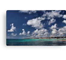 Beach near Playa de Carmen Canvas Print