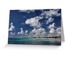 Beach near Playa de Carmen Greeting Card