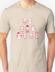 Little Bears in Christmas icons T-Shirt