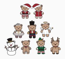Little Bears in Christmas icons-full color T-Shirt
