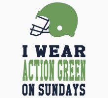 I Wear Action Green on Sundays Baby Tee