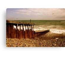 The Irresistable Force and the Immovable Object - Worthing Canvas Print
